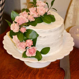Cake with Wrapped Flowers