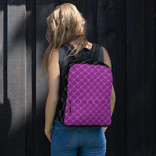 MC Pattern Purple Backpack