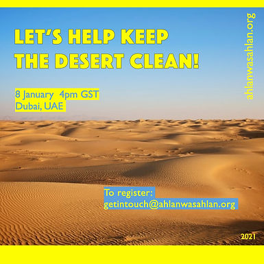 Let's Help Keep The Desert Clean!