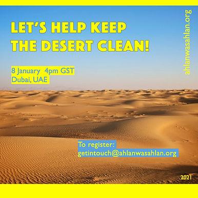 Let's Help Keep The Desert Clean!