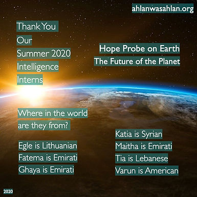 Hope Probe on Earth: The Future of the Planet