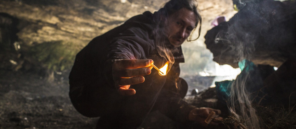 Nocleg w Jaskini Komonieckiego zimą