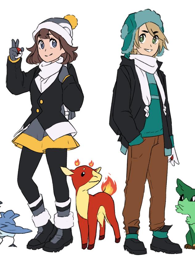 Mockups for a pokemon region based in Canada.