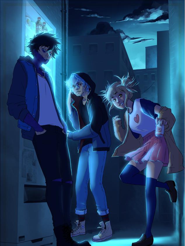 A piece I created for a fan-created art book of the manga My Hero Academia