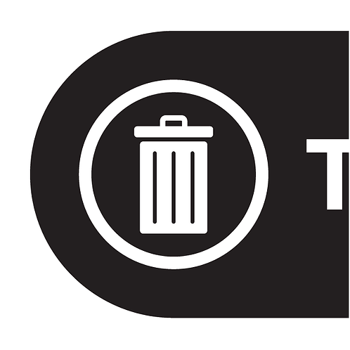 Disposal Stickers W/ Background