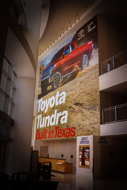 TOYOTA CENTER TUNDRA BANNER