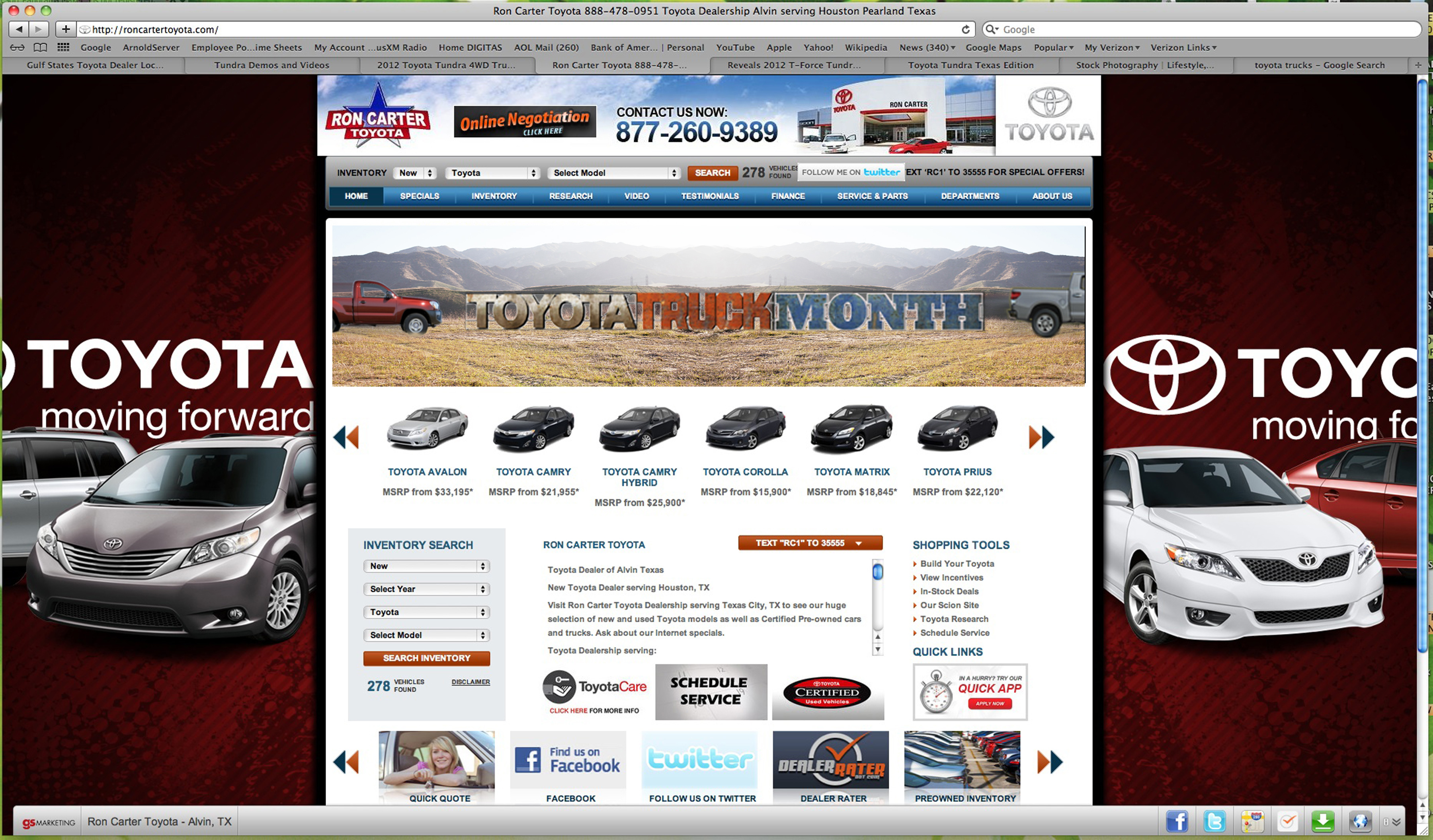 TOYOTA DEALER SCREEN W BANNER