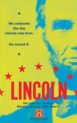 """HISTORY CHANNEL """"LINCOLN"""" PRINT"""
