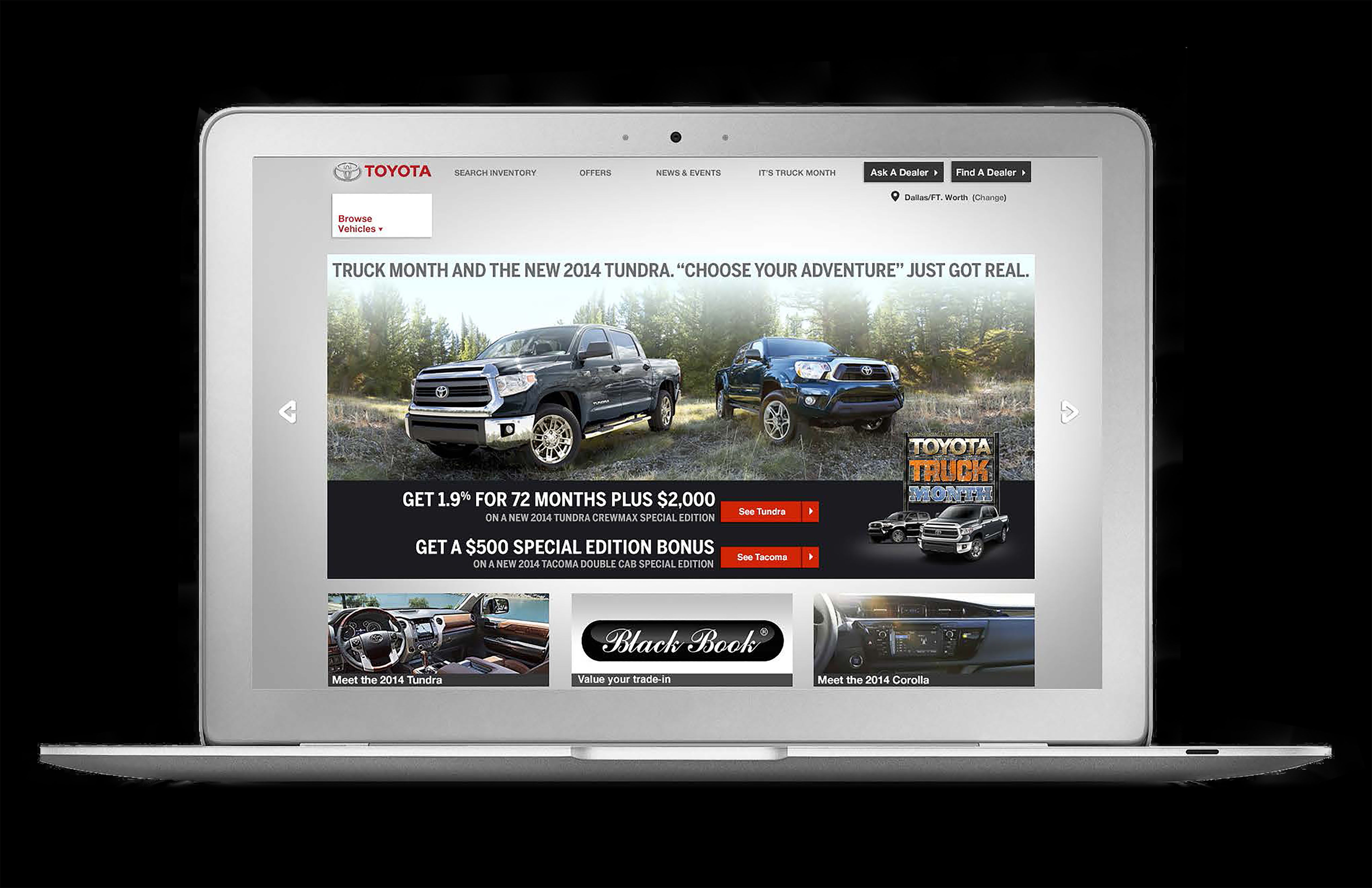 TOYOTA TRUCK MONTH LANDING PAGE