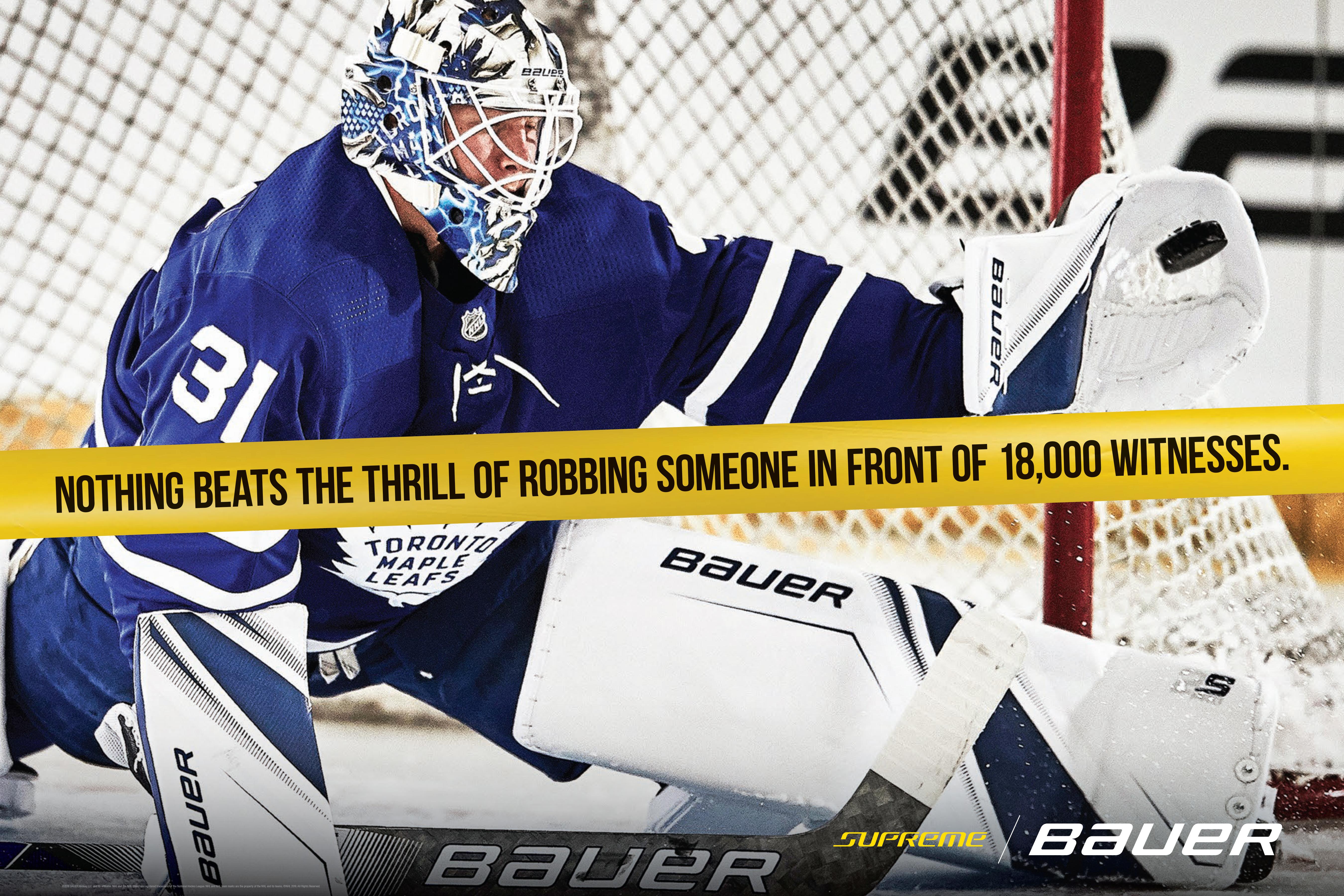 Bauer Goalie Ad