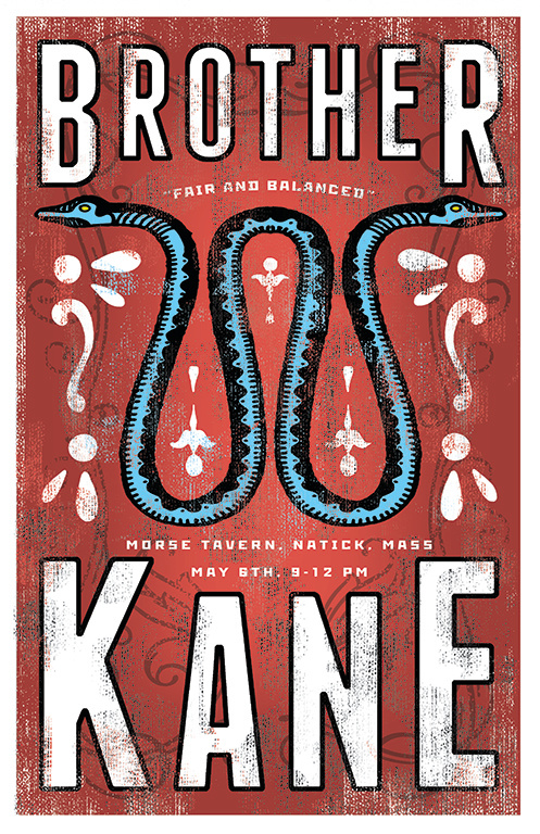 BROTHER KANE RED POSTER MAY 6TH GIG CA