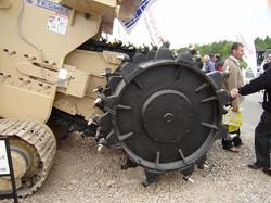Rock wheel trencher