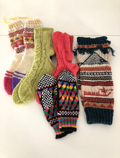 Penny Harvard's knitted collection