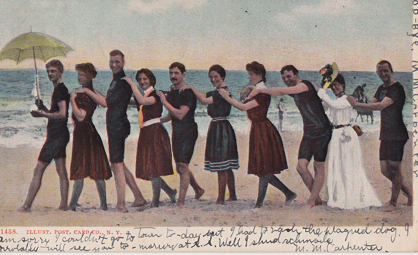 Roton Point Bathers postcard 1906 70.36.103 (2)