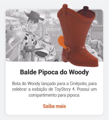 Balde de pipoca Bota do Woody