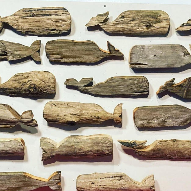 Andy Venay Driftwood Art carved from CT driftwood