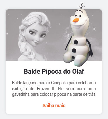 Balde de Pipoca do Olaf
