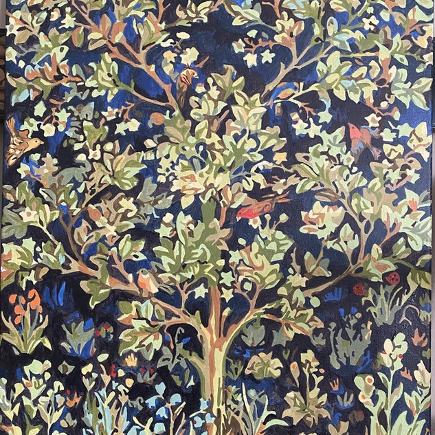 Lesley Korzennik's color by number of William Morris