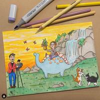 illustratie fantasie kaartje