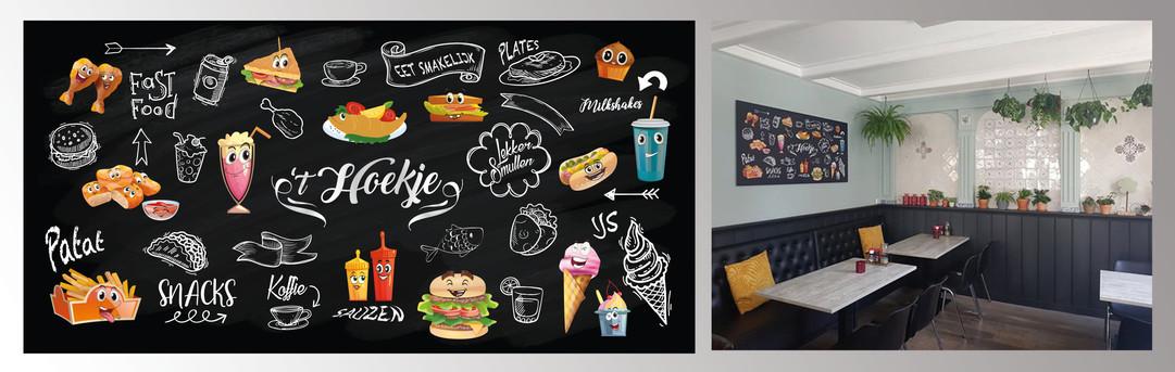Wanddecoratie, digitaal geïllustreerd_
