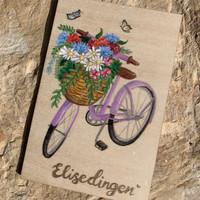 houtenkaartje fiets