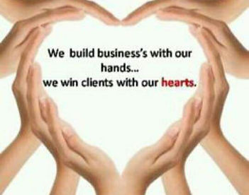 We build business's with our hands, we w
