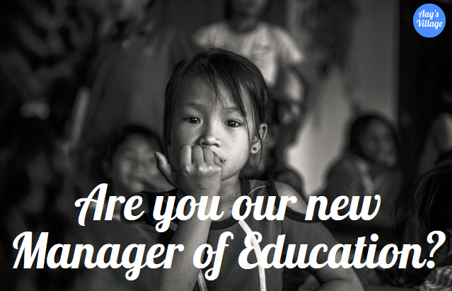 Are you our new Manager of Education?