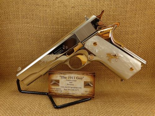 Colt 38 Super Bright Nickel/Gold ( NO CA SALES )