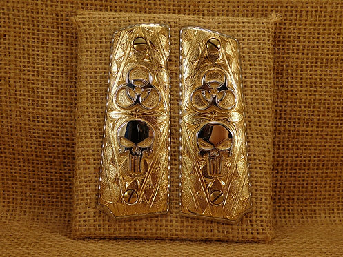 No.54 Skulls and Antrax Gold Plated