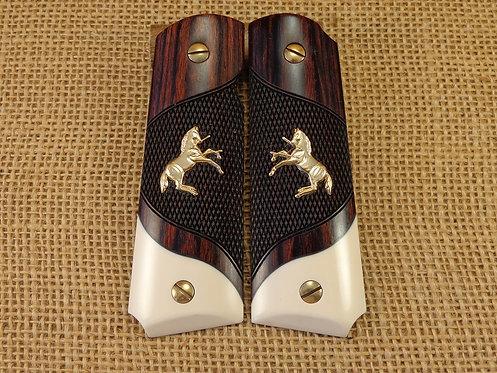 1911 Full Side Rosewood / Bonded ivory / Matching Screws