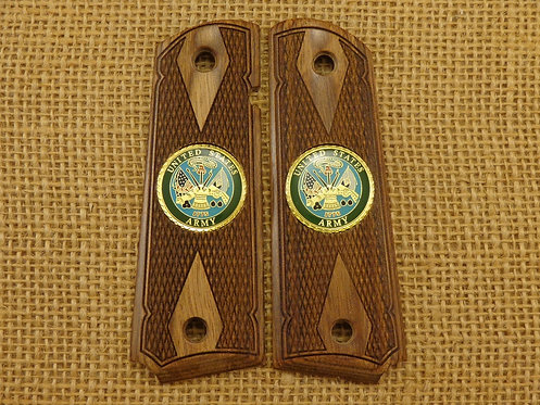 1911 Walnut grips with Army Medallions