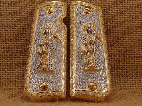 Santa Muerte  Silver Zirconia,Special Order Only**