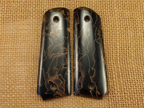 1911 Raffir Black/Gold Acrylic Grips