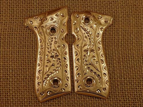 No.68 Beretta Scrolls Gold Plating
