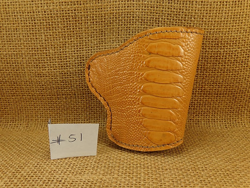 1911 Holster Hand made exotic ostrich Leg leather No.51