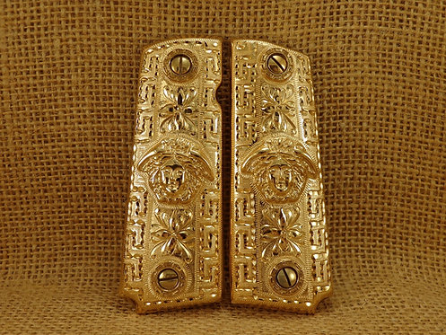 No. 58 Medusa Gold Plated Grips