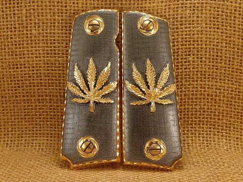 No.1Cannabis Leaft Gold Plated
