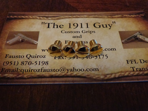 1911 Gold Plating Screws for grips.