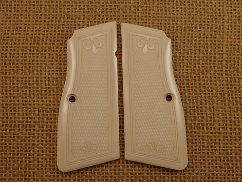 Browning HP Slim Bonded Ivory Checkered