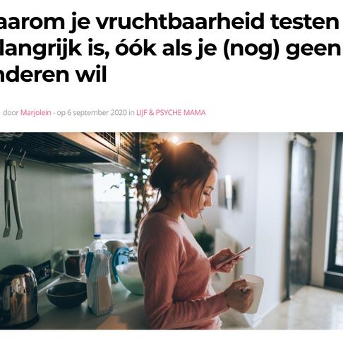 """Viva.nl: """"Waarom je vruchtbaarheid testen belangrijk is, óók als je (nog) geen kinderen wil"""""""