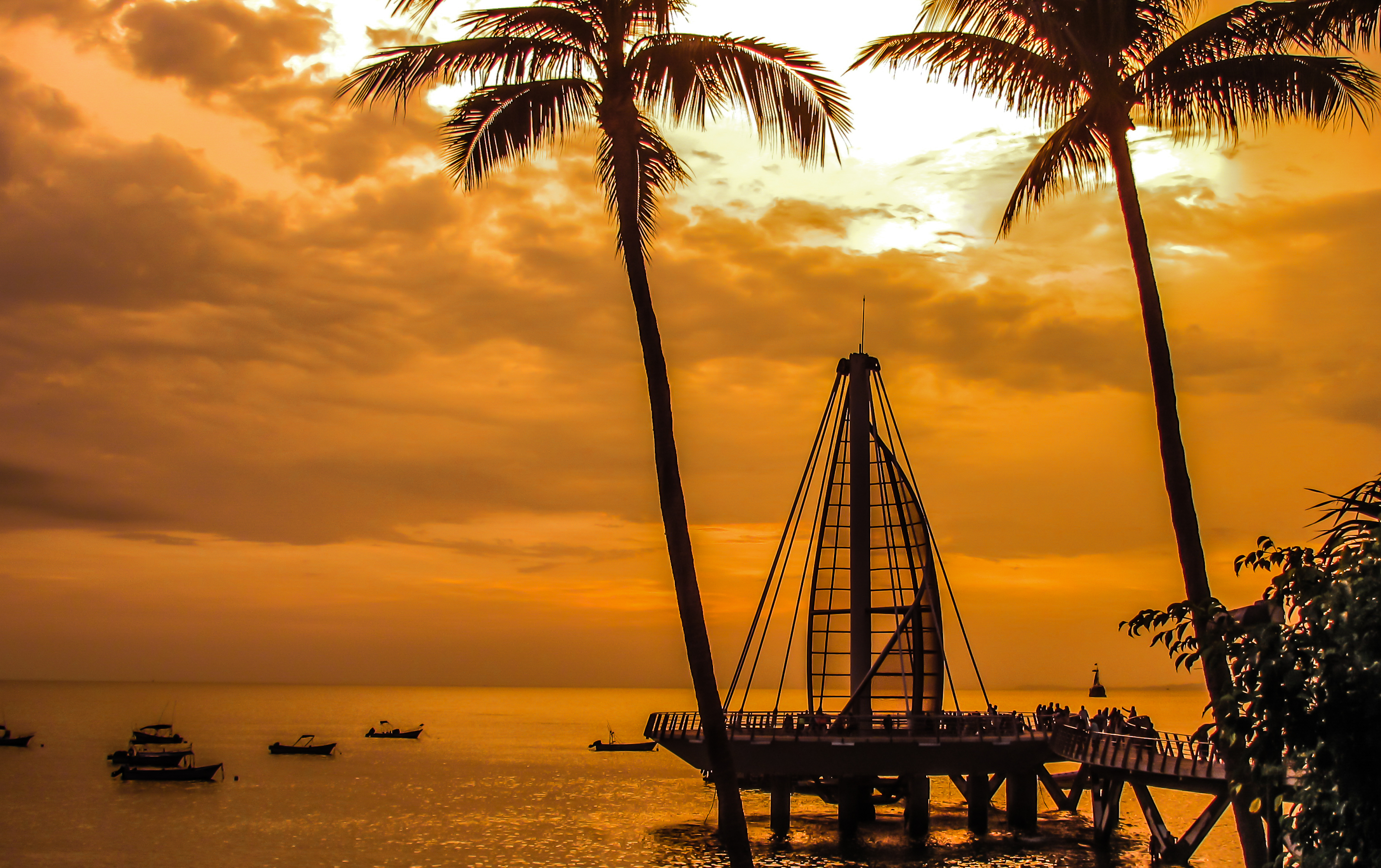 Los Muertos Pier at sunset.- (2)