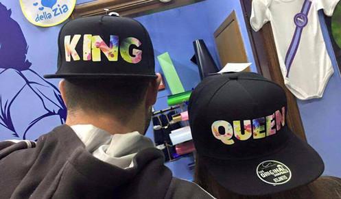 completo nelle specifiche comprare a buon mercato migliori marche Coppia di Cappelli King & Queen Flowers