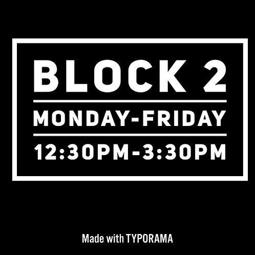 Block 2 - Easter Holiday Camp