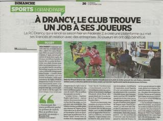 Le RC Drancy dans Le Parisien de ce  9 septembre 2018 !
