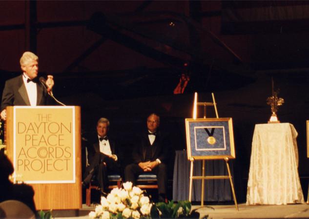 President Clinton receives Award