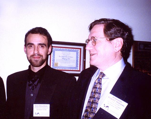 Dino Zonic and Ambassador Richard Holbrooke