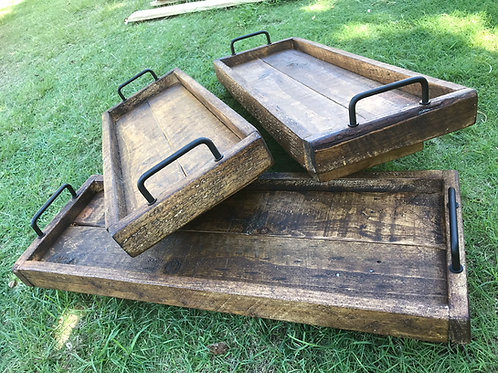 Rustic Rectangular Serving Tray