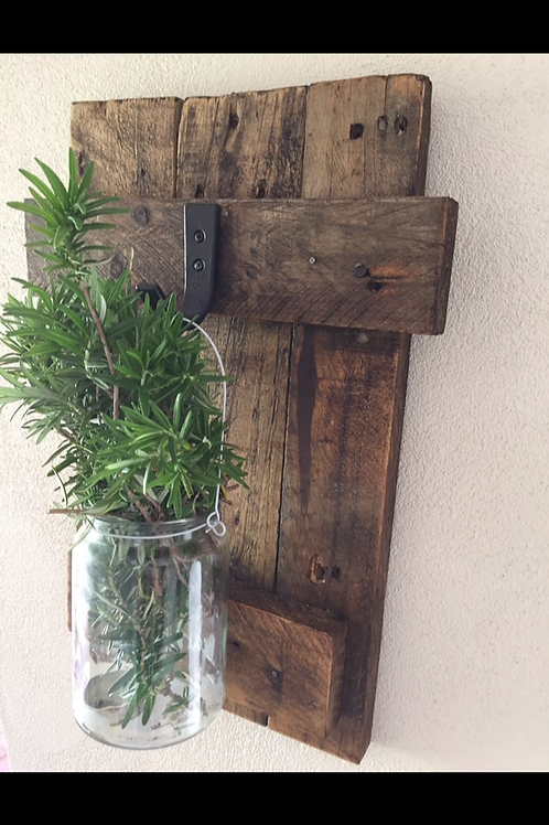 Rustic Style One Hook Plaque