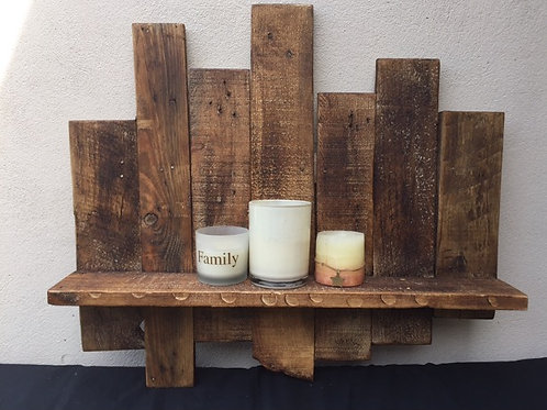 Rustic Style Staggered Wall shelf