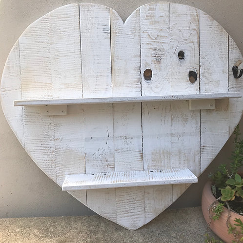 Rustic Heart Shelf
